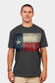 Texas state flag, retro vintage version