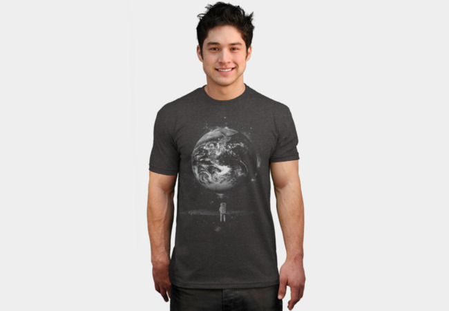 Man on the Moon T-Shirt - Design By Humans