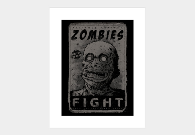 Zombie Propaganda Art Print - Design By Humans