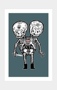 Calavera Twins T-Shirt