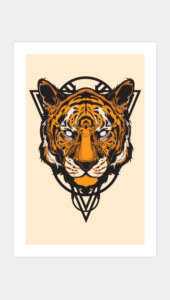 Yep, A Tiger! Art Prints