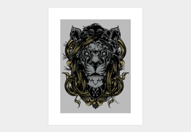 The Lion Art Print - Design By Humans