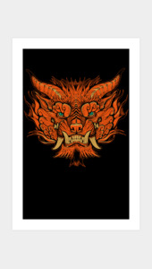 Foo Dog Face Art Prints