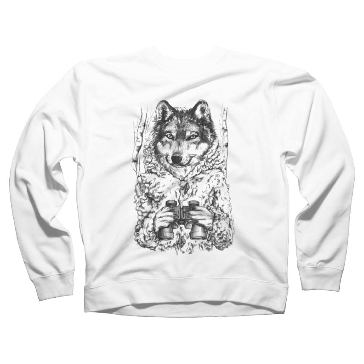 A Wolf in Sheep's Clothing Crew Neck Sweatshirt A Wolf in Sheep's Clothing is a cozy ring spun cotton White %type designed by gloopz. This design is featured in wolf, animals, art styles, illustrative, nature designs. Shop DesignByHumans.com for the best selection of cool graphic tees, tank tops, sweatshirts, notebooks, phone cases, and art prints.