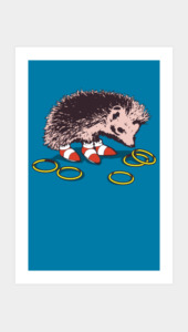 The hedgehog Art Prints