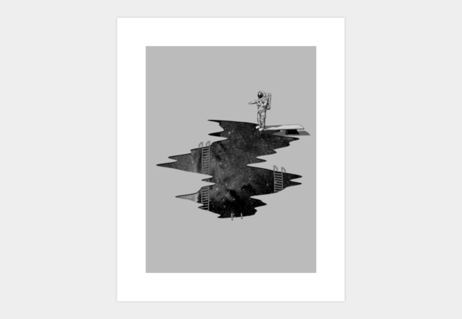 Space Diving Art Print - Design By Humans