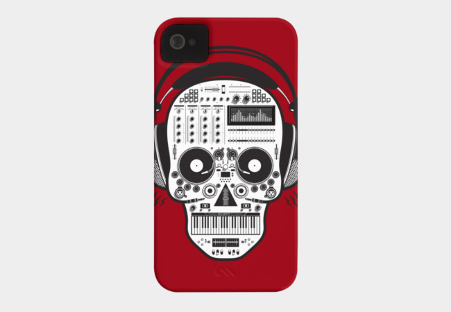Skull DJ Phone Case - Design By Humans