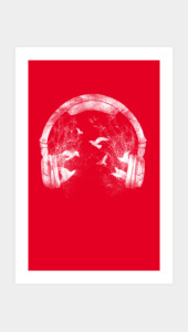Headphone Art Prints