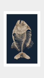 Bony Piranha Art Prints