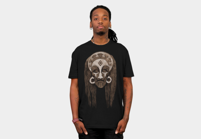 African Mask T-Shirt - Design By Humans