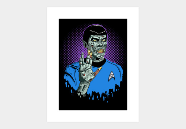 Live Long and Brains Art Print - Design By Humans