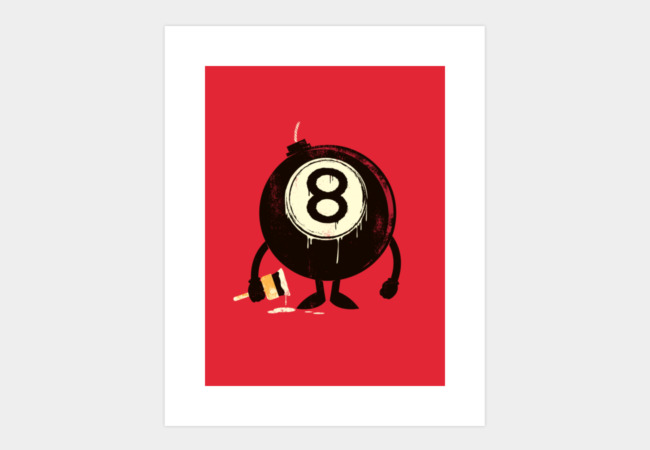 Lucky 8th Art Print - Design By Humans
