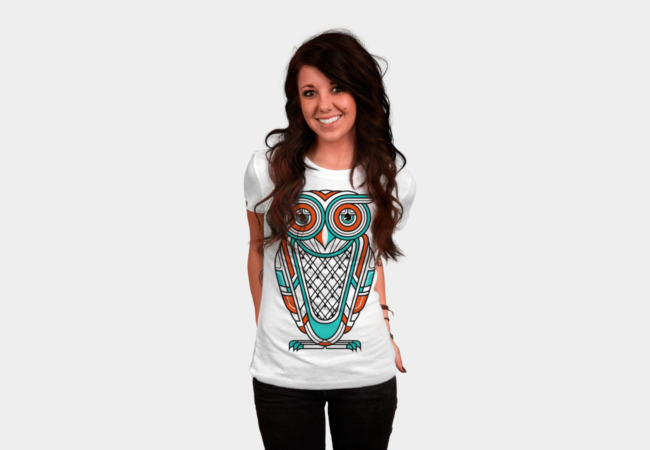 Art Deco Owl (Diurnal) T-Shirt - Design By Humans