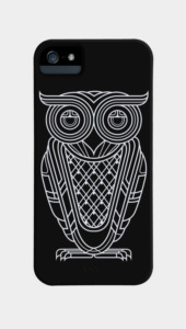 Art Deco Owl (Nocturnal) Phone Cases