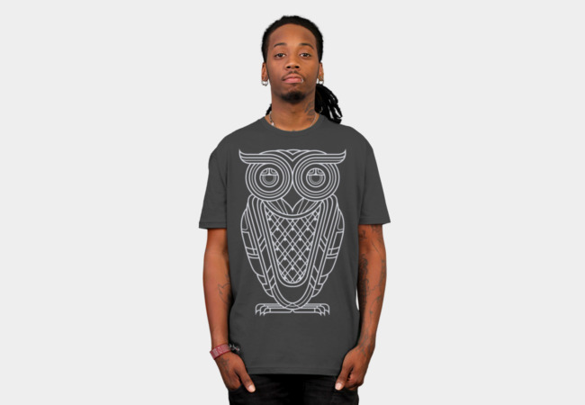 Art Deco Owl (Nocturnal) T-Shirt - Design By Humans