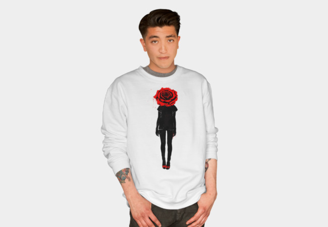 Red Rose Sweatshirt - Design By Humans