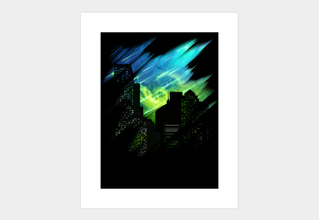 Alien Night Skies Art Print - Design By Humans