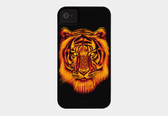 Fire Tiger Phone Case - Design By Humans