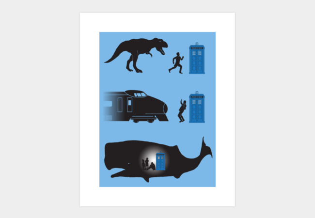 Time Travel is Dangerous Art Print - Design By Humans
