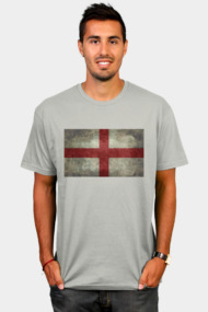 Flag of England (St. George's Cross) Vintage retro style