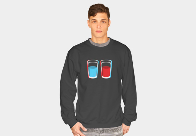 3D glasses Sweatshirt - Design By Humans