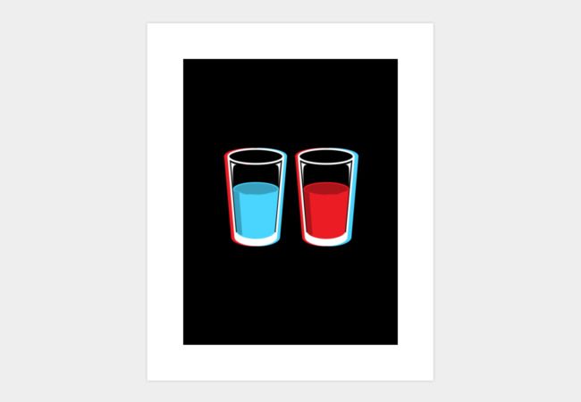 3D glasses Art Print - Design By Humans
