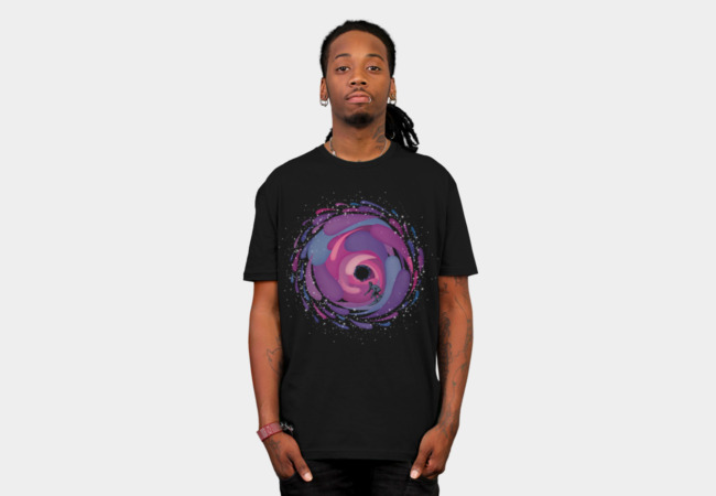 Black Hole Surfer T-Shirt - Design By Humans