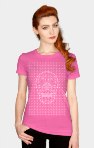 Triangles and Line Art Skull T-Shirt