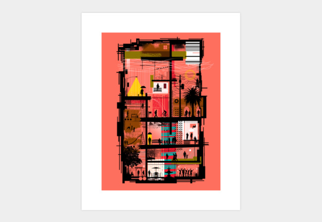 Street Life Art Print - Design By Humans