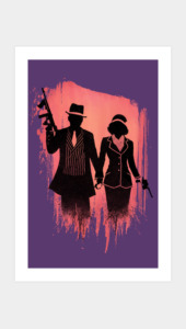 Outlaw lovers Art Prints