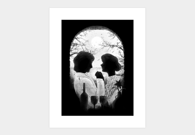 Till Death Do Us Apart (white) Art Print - Design By Humans