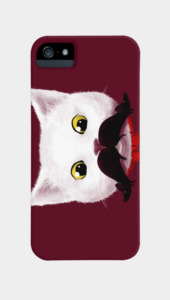 Kitty's Mouse-tache Phone Cases