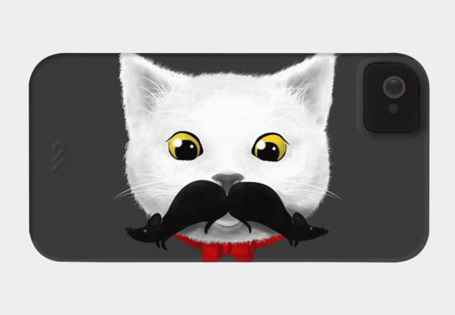 Kitty's Mouse-tache Phone Case - Design By Humans