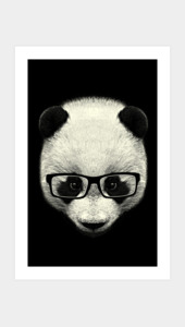 Serious Panda Art Prints