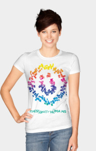DBH Artist Series Shattered Logo - Rainbow Ed T-Shirt