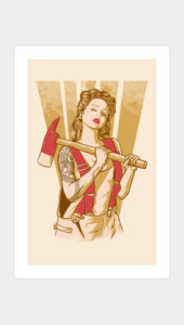 Axe girl Art Prints