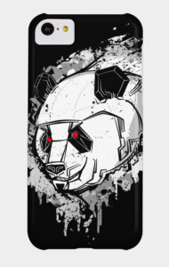 Grey Mecha Panda T-Shirt
