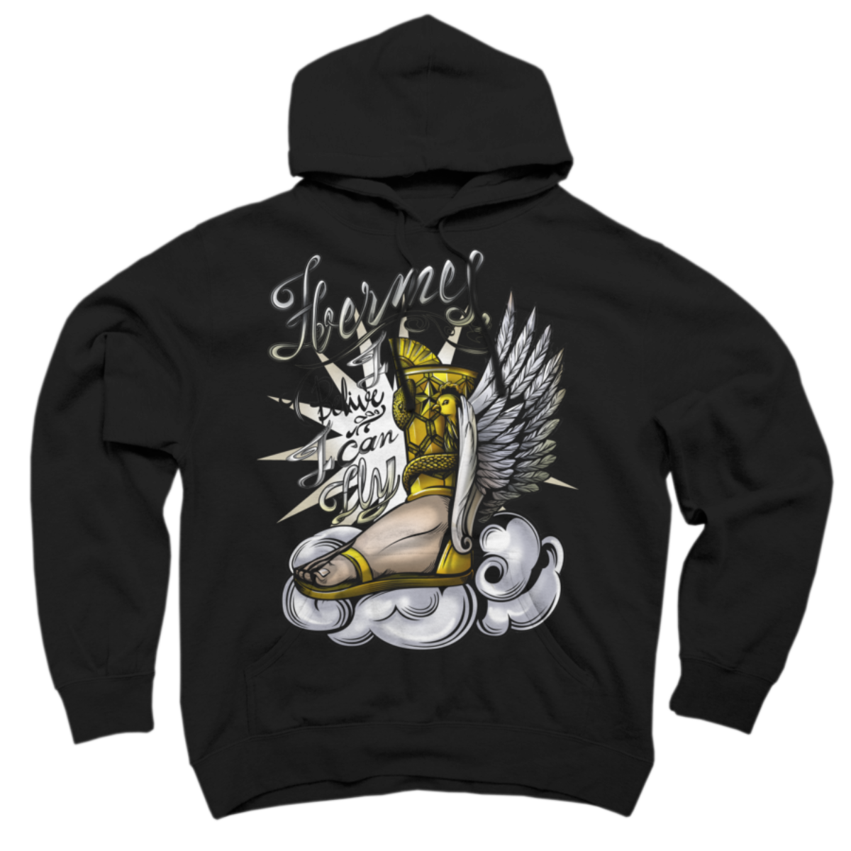 hermes Pullover Hoodie hermes is a cozy ring spun cotton Black %type designed by mayyahooo. This design is featured in people, sci-fi & fantasy designs. Shop DesignByHumans.com for the best selection of cool graphic tees, tank tops, sweatshirts, notebooks, phone cases, and art prints.