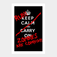Keep Calm and Run Zombies Are Coming