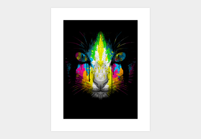 The Neon Pussy Cat Art Print - Design By Humans