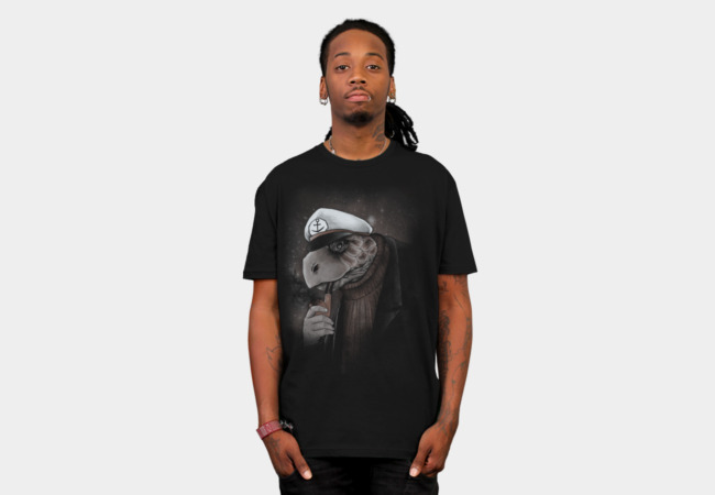 turtlenecked Seacaptain T-Shirt - Design By Humans