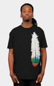 Feather Art T-Shirt