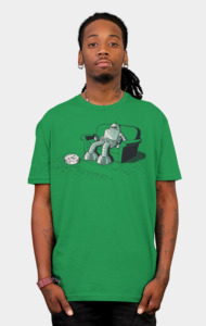 A Robot Vacuuming T-Shirt