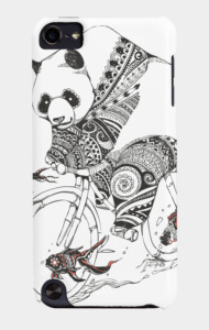Panda and Follow Fish T-Shirt