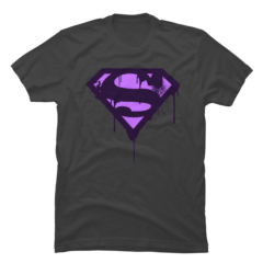 Superman Purple Splatter Logo