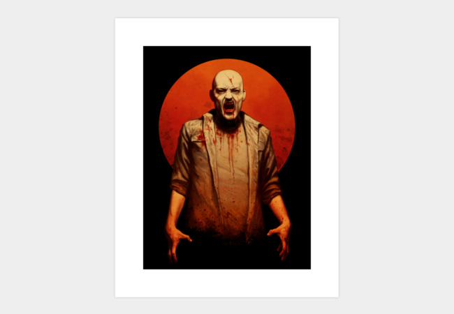 Blood red sun Art Print - Design By Humans