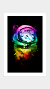 ASTRO CAT Art Prints