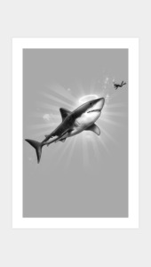 Holy Shark! Art Prints