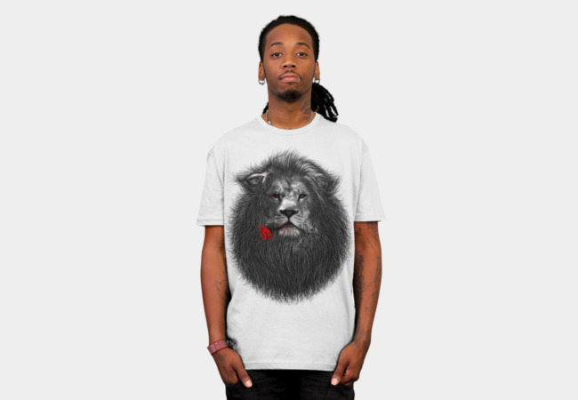Lion and Rose T-Shirt - Design By Humans