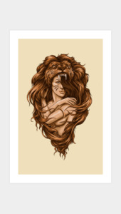 Lion Queen Art Prints
